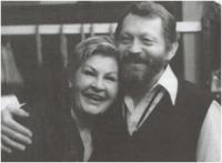 With her partner Jiří Zahajský, 1989