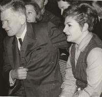 With Josef Smrkovský, 1969
