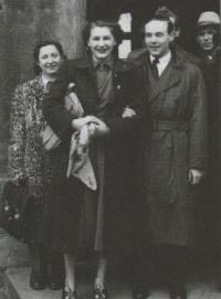 Wedding with Josef Moučka, 1949