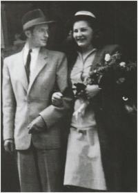 Wedding with Miloš Willig, 1949