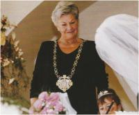 As a wedding registrar in the Old Town Hall, around 1996