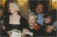 With her children, from the left Kateřina, Ondřej and Bára, 1998