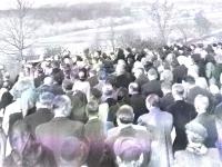 The funeral of Jiří's father Bohuš Bárta, 1953