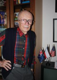 Jan Lorenz at Australian, Czech and U.S. flag