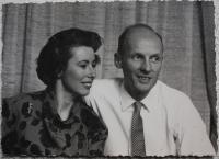 Jan Lorenz with his wife - 50s