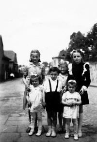 Erika Herudková in the upper left / Bolatice 1951