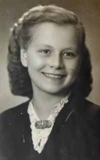 Marie Adámková (Hurtíková) in 1946