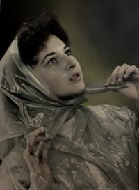 Anita´s potrait photo done in Klingenthal photo atelier in 1950s