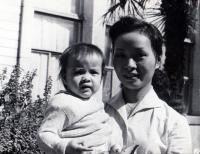 Nhung with her doughter in Podebrady ČSR in 1964