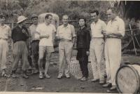 Vietnam, Nhung and Vladimir (4th from left)