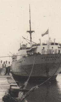 Czechoslovak ship in Vietnam