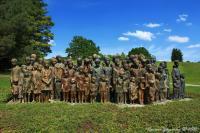Memorial to children victims of war by Jiří Hampl and Marie Uchytilová