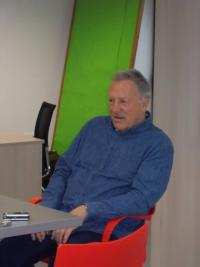 Jiří Holík during an interview