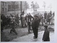 Barricade on the street corner of Terronska and Cinska