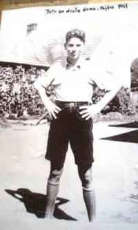 Petr Eisenberg at home in Frýdek, 1936