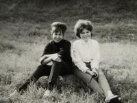 Witness with Irena Gerová (on right) at a school trip; unlocated; September 1966