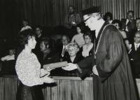 Graduation ceremony in Prague, 1972