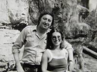 Witness with Jiří Lábus (a witness at Irena Gerová´s wedding); Levého statues above Liběchov; in summer 1983
