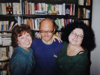Celebration of the wedding with a witness Irena Gerová at home; in Prague on 14th October, 1999