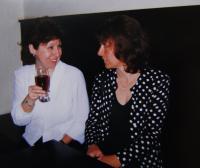 Celebration of the witness´50th birthday with Zina Freundová in Prague in 1999