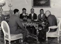 M. Tadian (first from the left) with president Beneš