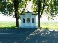 Kaplička za Uherským Ostrohem do níž za války ukládala tajné zprávy pamětnice