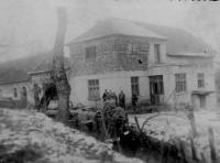Žilkuv mlýn ve Velké nad Veličkou během oprav v roce 1939