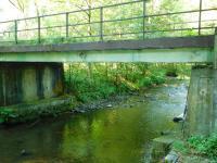 Most u Hoštejna, kde Jaroslav a Bronislav Knápkovi ukrývali tajné zprávy pro agenta CIC Václava Vokáče