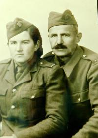 Uncle Josef Širc and cousin Marie Šircova in the Czechoslovak Army Corps