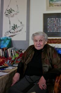 Mrs. Černá in her flat