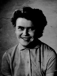 Mrs. Černá as a student