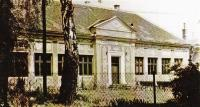 1960 - school in the colony, which Zdeněk attended. The painting on the school were done by a local boy as a symbol of thanks for having survived Totaleinsatz hidden in an art school somewhere in Lipov