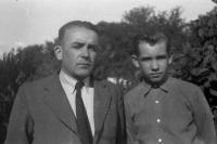 1952 - Zdenek Bíza with his father