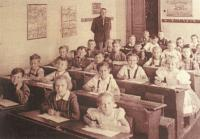 1946 - school in Rohatec, with Zdeněk's father Josef Bíza as its principal