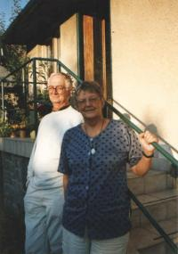 Hana with her husband Jan, Benešov 2003
