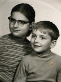 Children Šimona and Tomáš, Prague 1971