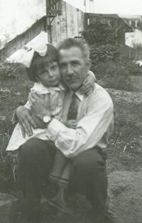 Natálie with her father