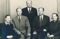 Father Karel Havelka sen. with his siblings, second from left, 50ies
