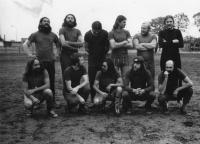 Dream team of Nová Víska, KH in striped socks, 1978/79