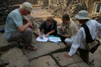 Cambodia - a study of the sandstone of the old temples