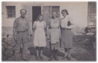 With her family in Pánov