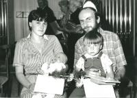 Vlastimil Bartos with his wife Mary and children in 1987