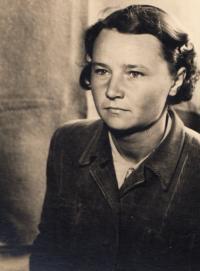 Marie Danešová roz. Haňková, tábor Valka, r. 1950