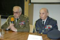 Pvael Vranský (on the left) at the University of Defence (2013)