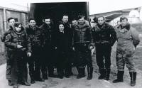 Pavel Vranský (fourth from left) in anti-submarine air forces