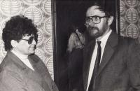 Václav Mezřický with his wife, 1988
