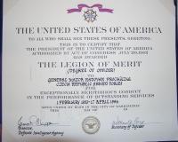 Legion of Merit - dekret