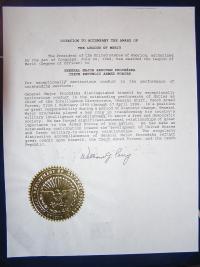 Slovní doprovod k Legion of Merit