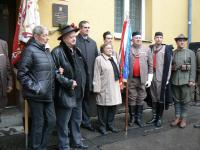 Unveiling of a memorial plaque in memory of Mr. and Ms. Smrž, 2016
