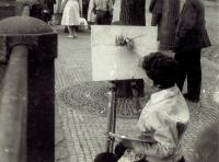 Ivan painting Hradčany, Prague 1961